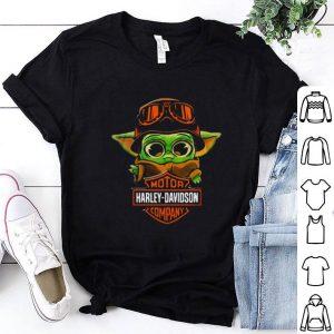 Awesome Baby Yoda Biker Motor Harley Davidson Company shirt