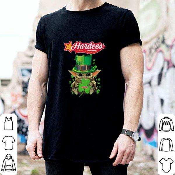Awesome Baby Yoda Hardee's St.Patrick's Day Star Wars shirt