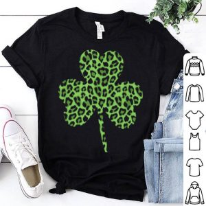 Awesome Cute Green Shamrock Leopard Pattern Top Women shirt