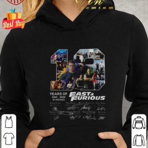 Awesome Fast & Furious 19 Years of 2001 2020 10 movies signatures shirt