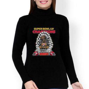 Daschund Iron Throne Super Bowl LIV Champions Kansas City Chiefs shirt
