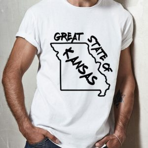 Great State Of Kansas Missouri Marker Trump Joke shirt