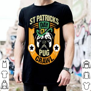 Official St. Patrick's Day Pug Crawl Gift shirt