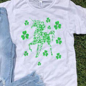 Premium Unicorn Irish Shamrock Clovers St Patrick's Day Fairy Tale shirt