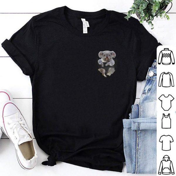Pretty Koala in pocket Australia fires shirt