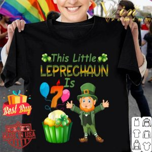 This Leprechaun Is 7 Year Old Birthday St Patricks Day shirt