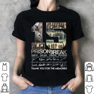 15th Years Of Prison Break 2005-2020 signature thank you for the memories signatures shirt