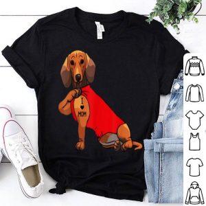 Awesome Dachshund I Love Mom Tattoo Dachshund Mom Gifts shirt