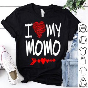 Awesome I Love My Momo, Valentine Day Gift For Mother shirt