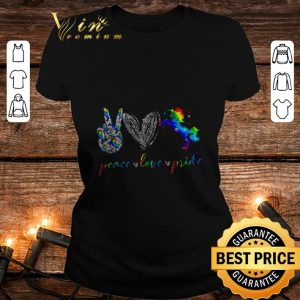 Awesome LGBT peace love pricle Heart Diamonds shirt