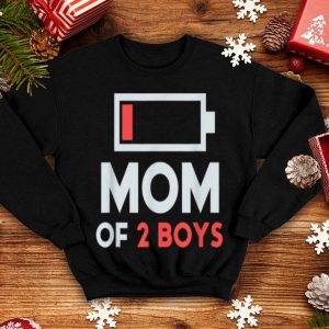 Awesome Mom Of 2 Boys Gift From Son Mothers Day Birthday Women shirt