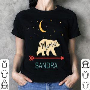 Awesome Sandra Name Gift Personalized Retro Mama Bear shirt