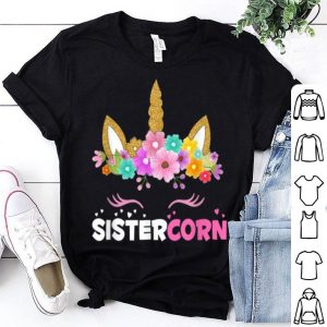 Awesome Womens Funny Sistercorn Unicorn Costume Sister Mother's Day shirt