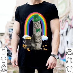 Beautiful Cat St Patricks Day Leprechaun Costume Shamrock Gift Girls shirt
