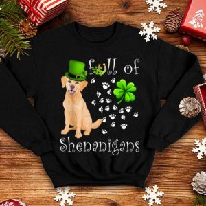 Beautiful Full Of Shenanigans Labrador Retriever Dog St Patricks Day shirt