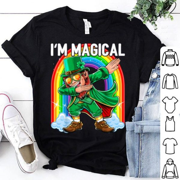 Beautiful I'm Magical Dabbing Leprechaun St. Patrick's Day Gift Kids shirt