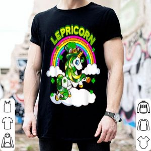 Beautiful St Patricks Day Girls Unicorn Irish Lepricorn Gift shirt