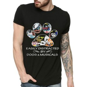 Broadway Easily distracted by dog & musical shirt