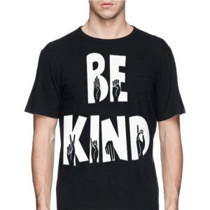 Hand making sign be kind sweater