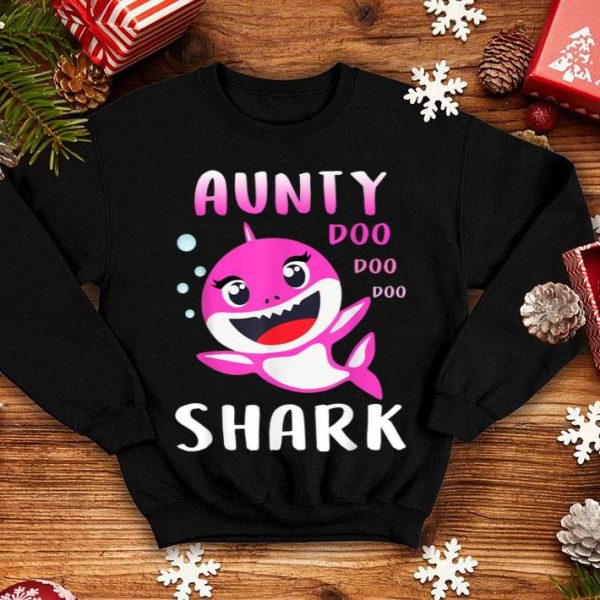 Nice Aunty Shark Doo Doo Christmas Mother's Day Gifts shirt