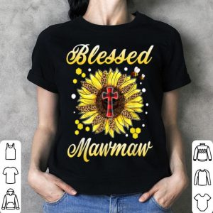 Nice Blessed Mawmaw Cross Sunflower Mother Day shirt