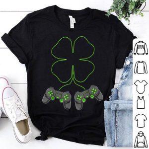 Nice St Patricks Day Video Games Controller Shamrock Gamer Gift shirt