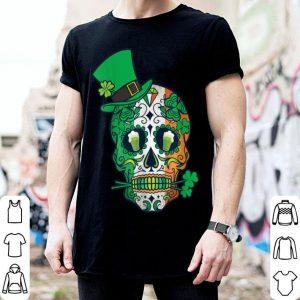 Official Day Of The Dead Irish Shamrock Sugar Skull Leprechaun shirt