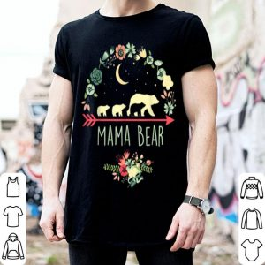 Official Premium Mama Bear With 3 Cubs Floral Mother's Day shirt