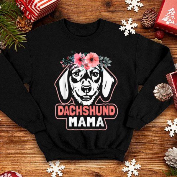 Original Dachshund Mama Dog Mom Flower Weiner Dog Cute Funny Gift shirt