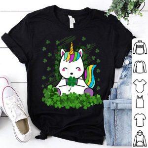 Premium Irish Unicorn Ireland Shamrock St Patrick's Day Girls Tee shirt