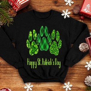 Premium Leopard Print Three Dog Paws Happy Saint Patrick's Day Gift shirt