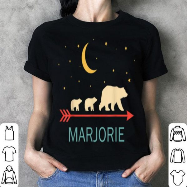 Premium Marjorie Name Gift Personalized Mama Bear With 2 Cubs shirt