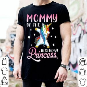 Top Mommy Of The Birthday Princess Unicorn Daughter Mama shirt