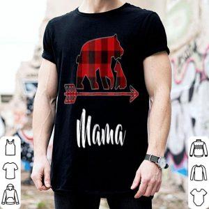 Top Red Plaid Mama Bear Matching Buffalo Pajama shirt