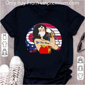 Great Vintage Wonder Woman Ohio Nurse Stethoscope Covid-19 shirt