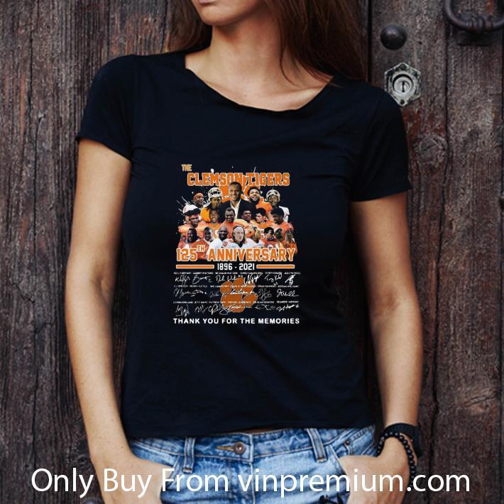 Original The Clemson Tigers 125th Anniversary 1896-2020 Signatures shirt