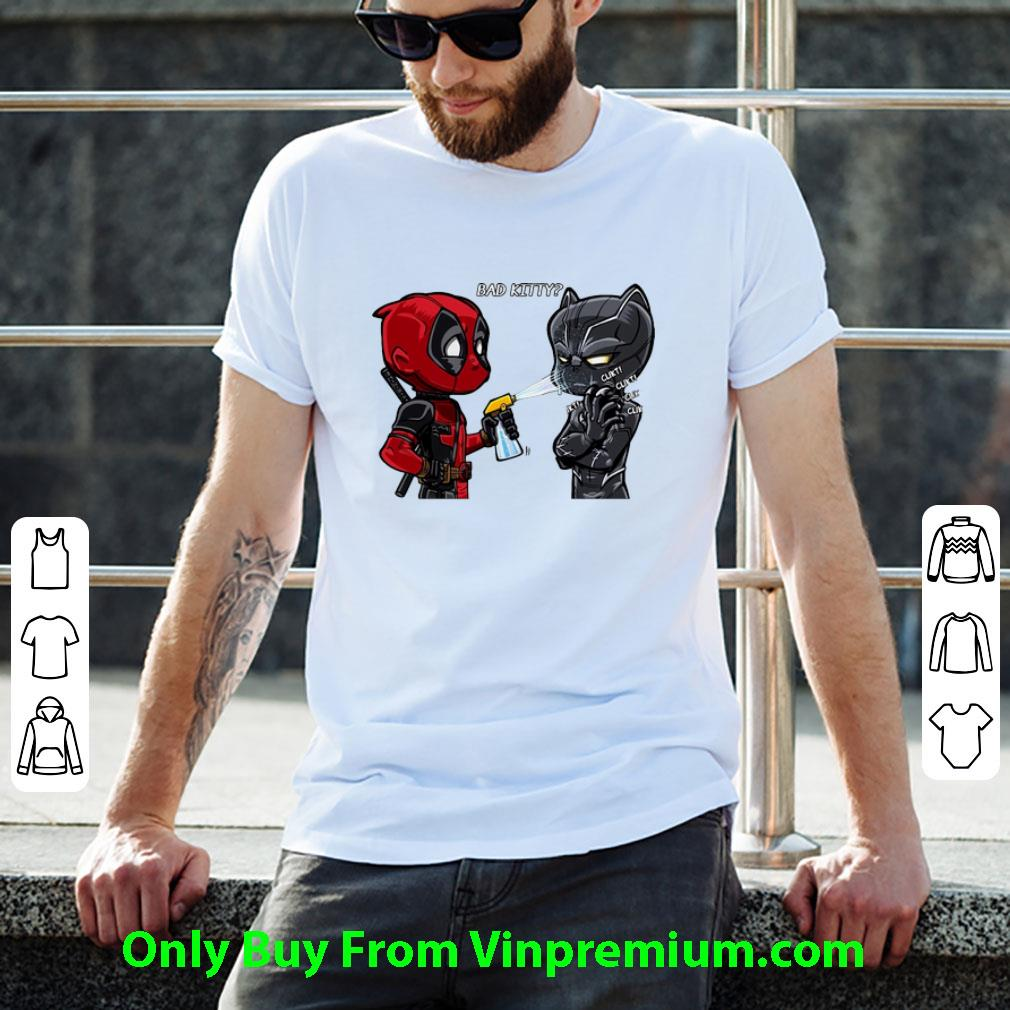 Great Bad Kitty Deadpool And Black Panther shirt
