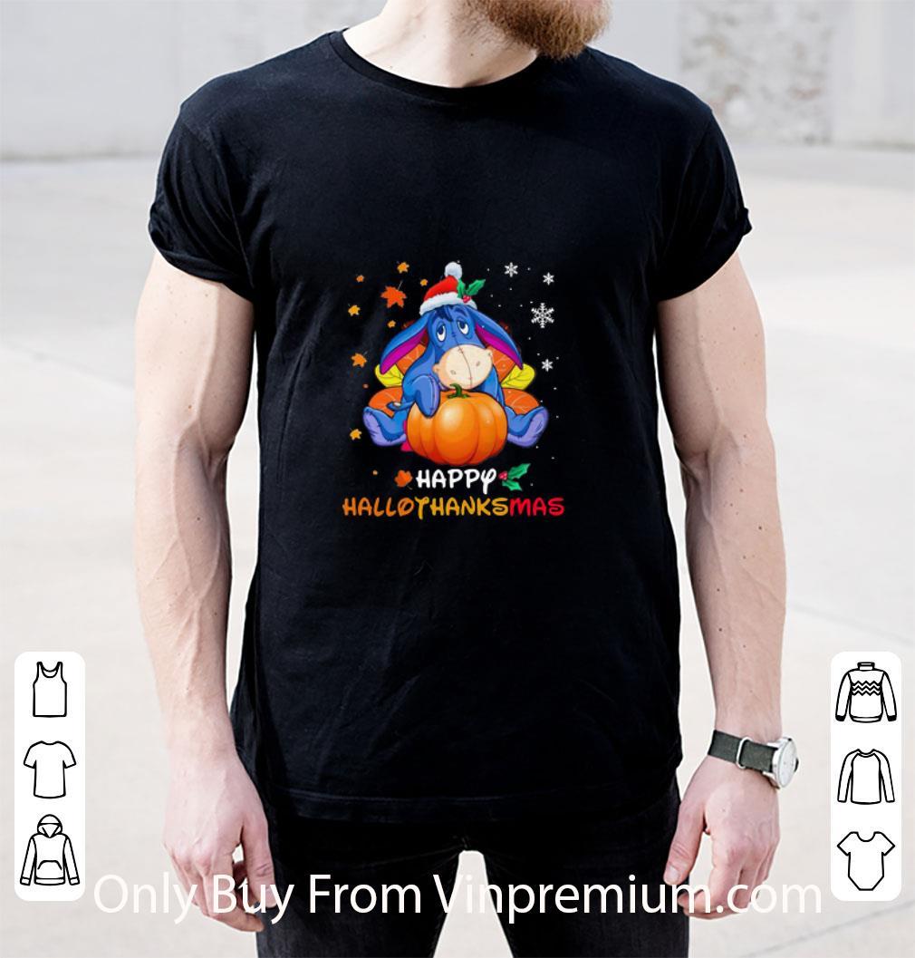 Great Eeyore Pumpkin Happy Hallothanksmas shirt