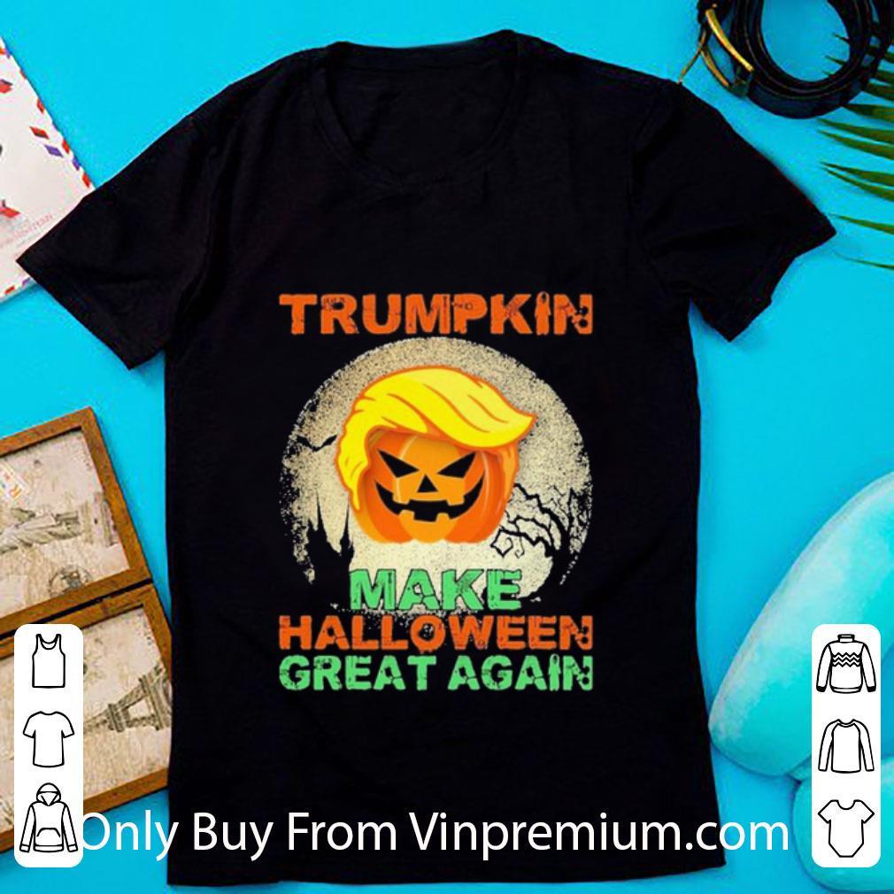 Awesome Pumpkin Trumpkin Make Halloween Great Again shirt