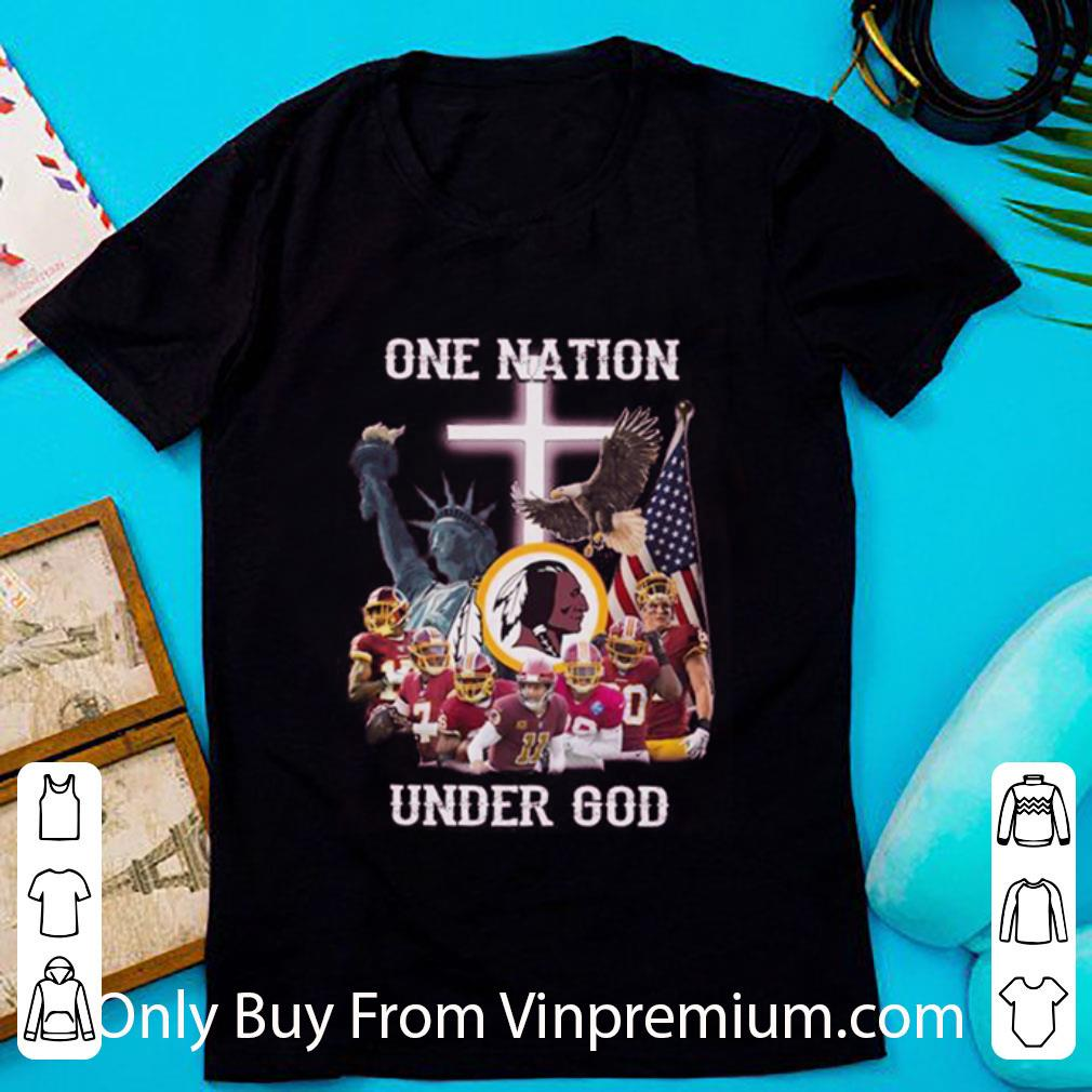 Great Statue Of Liberty American Washington Redskins One Nation Under God shirt