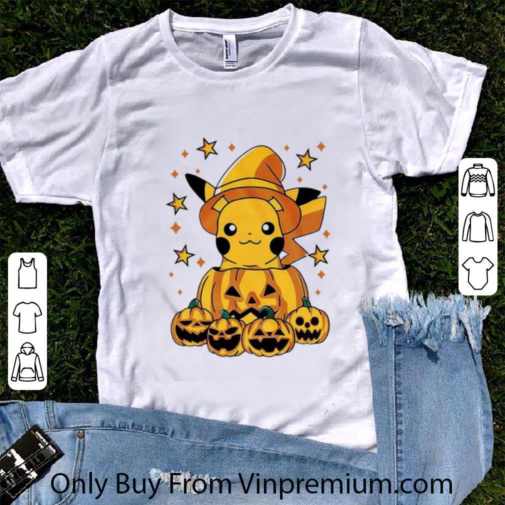 Great Pokemon Pikachu Witch Pumpkin Halloween shirt