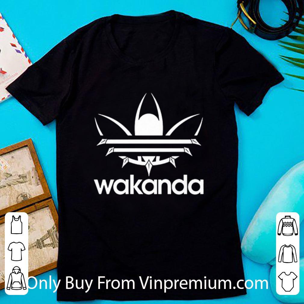 Awesome Black Panther Wakanda Adidas Logo shirt