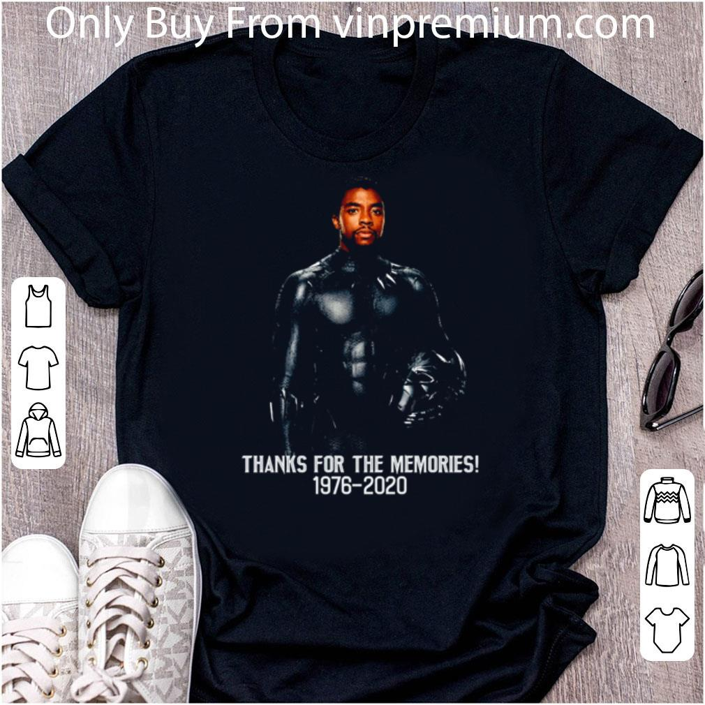 Awesome RIP Chadwick Boseman Thank You For The Memories 1976 2020 Signature shirt