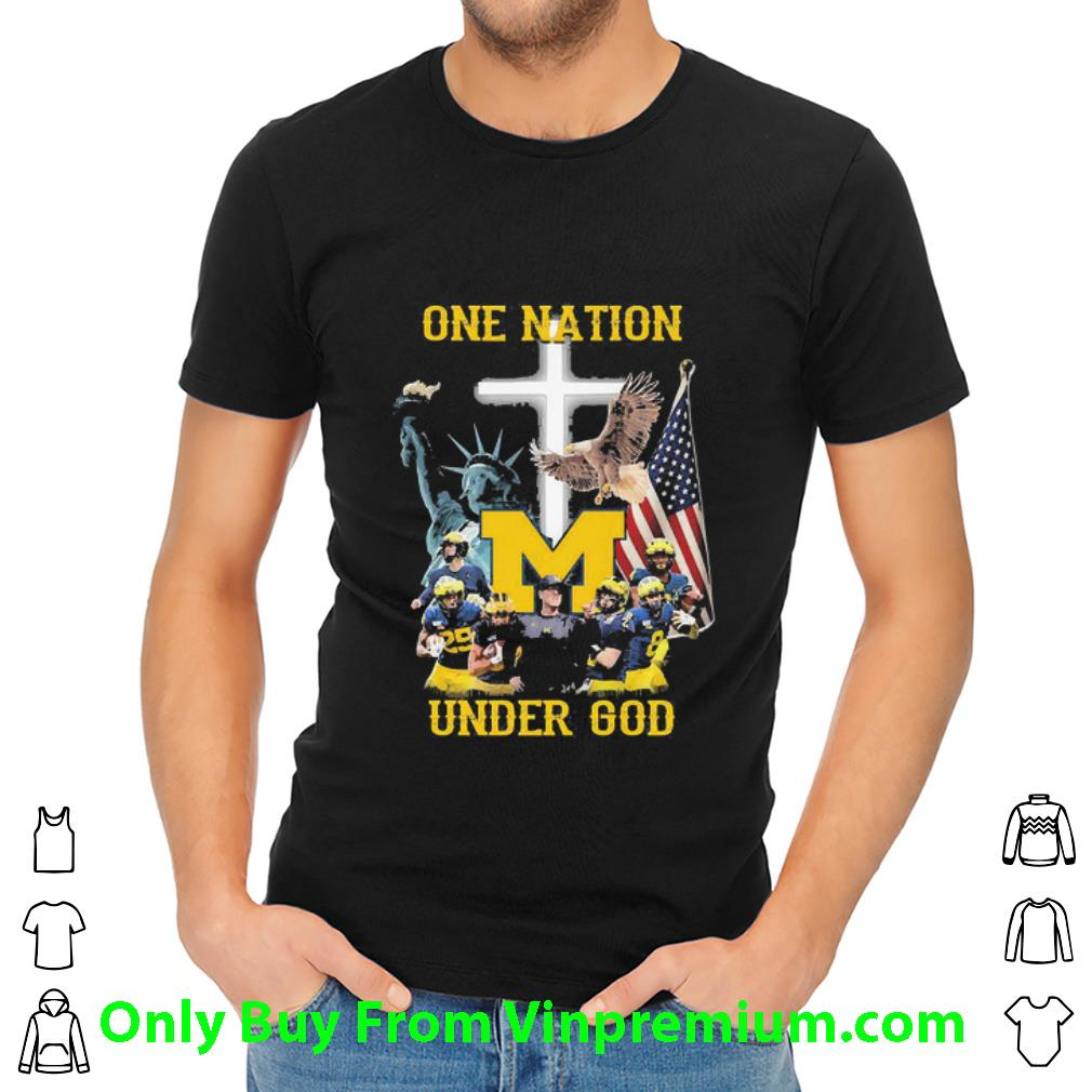 Great Statue Of Liberty American Michigan Wolverines One Nation Under God shirt