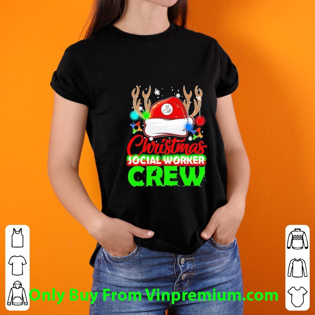 Nice Social Worker Crew Christmas shirt