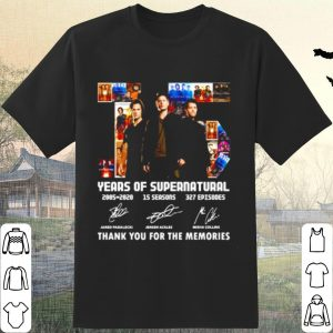 Best 15 Years Of Supernatural 2005 2020 Thank You For The Memories Signature shirt