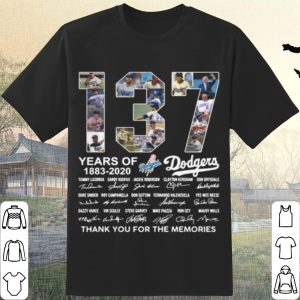 Best 137 Years Of Los Angeles Dodgers Thank You For The Memories Signatures shirt