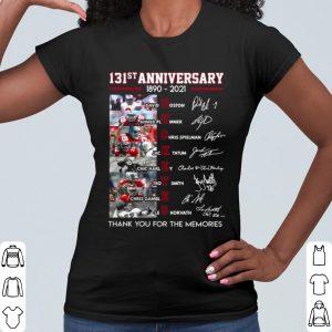 Best 131st Anniversary Ohio State Buckeyes Thank The Memories Signatures shirt