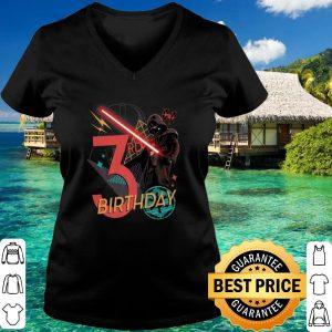 Best Star Wars Darth Vader 3rd Birthday Abstract Background shirt 2