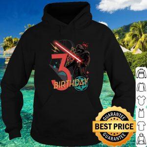 Best Star Wars Darth Vader 3rd Birthday Abstract Background shirt 3